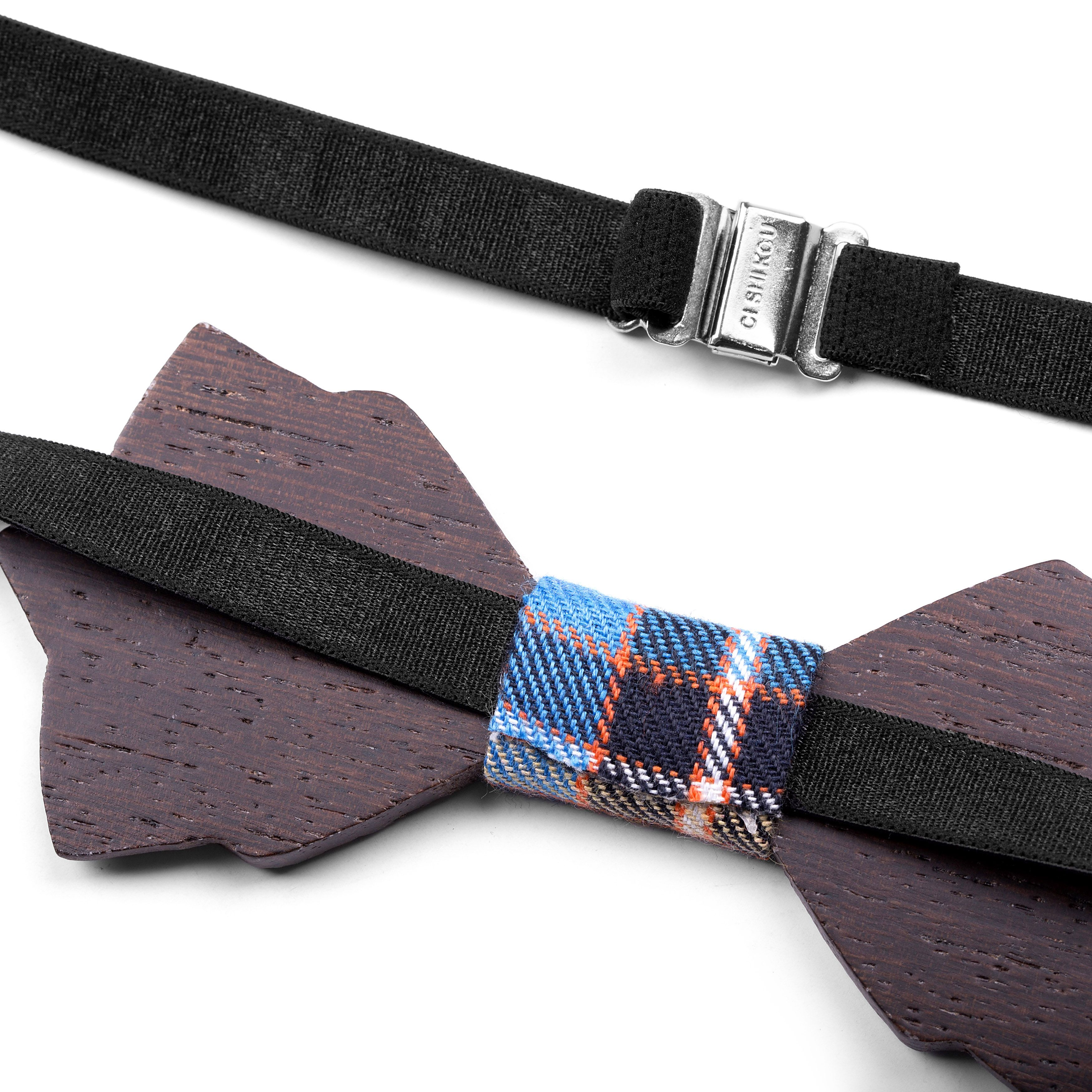 African Double Wenge Bow Tie | In stock! | Tailor Toki #afrikanischemode