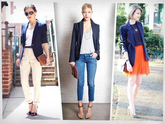 3 maneras de usar un blazer azul marino azul marino for Combinaciones con azul
