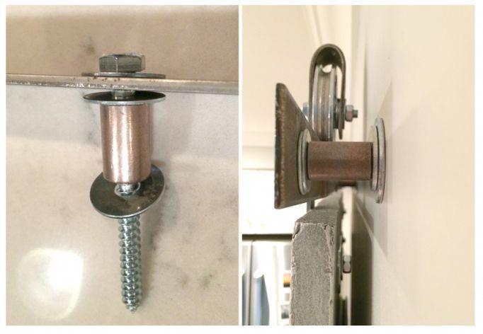 Rustic Sliding Door Hardware Barn Door Bottom Track Building A
