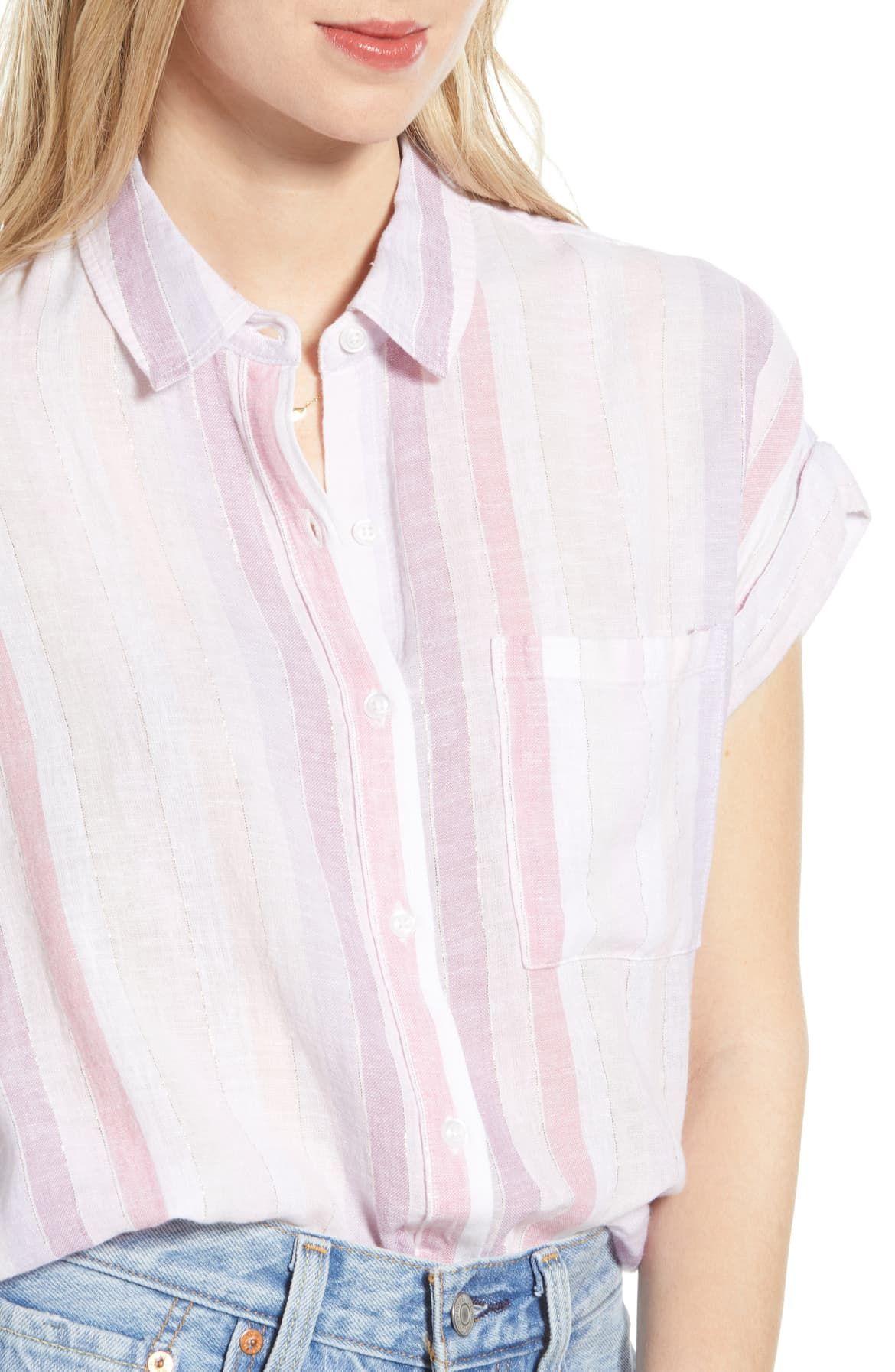 Whitney Print Shirt, Alternate, color, SAHARA STRIPE