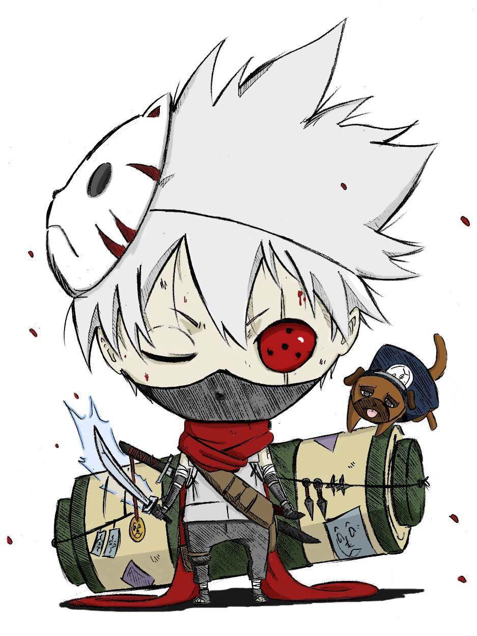 Kakashi Chibi With Images Chibi Naruto Characters Chibi