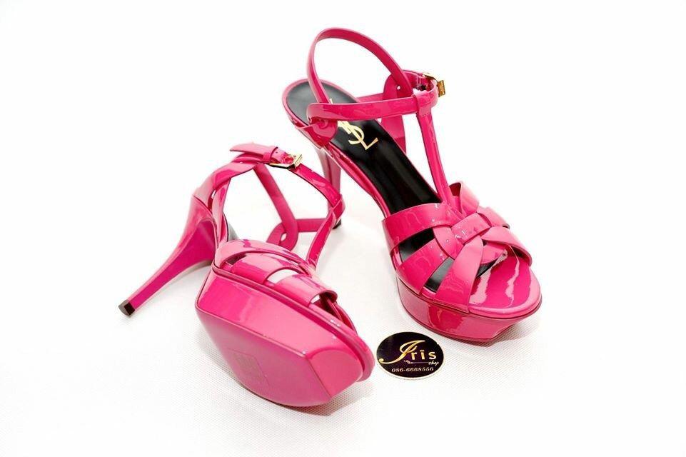 """รองเท้า YSL Tribute Low Heels 3.5"""" Hot Pink ของใหม่พร้อมส่ง‼️ - Iris Shop"""