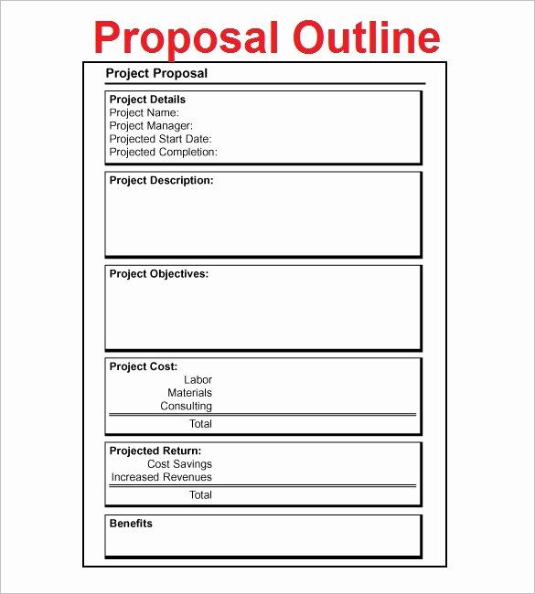 Project Proposal Outline Sample Elegant Proposal Outline Templates 20 Free Fre In 2020 Business Proposal Template Project Proposal Template Writing A Business Proposal