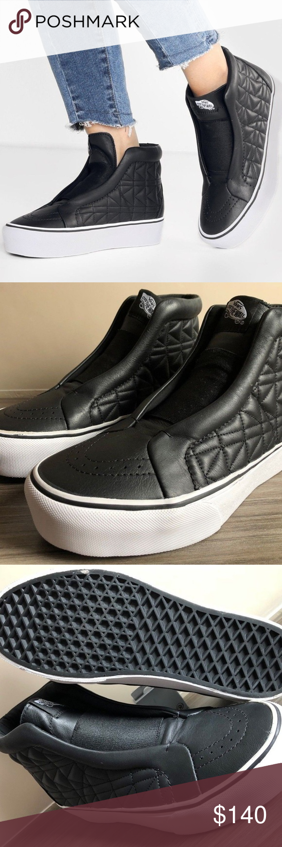 aa1b2b60655887 VANS X KARL LAGERFELD SK8-HI LACELESS SKATE SHOES NEW IN OPEN TOP BOX  AUTHENTIC