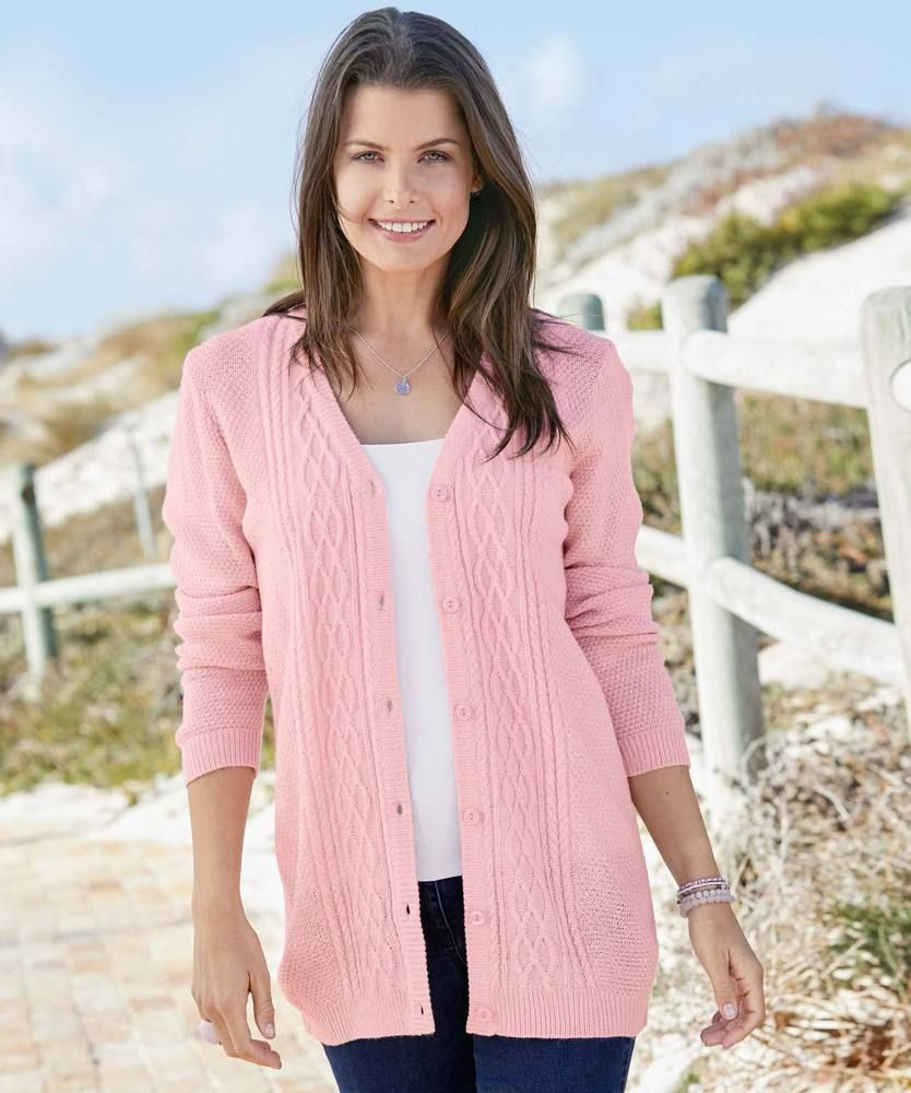 stable quality save off order Damart V-Neck Cardigan Pink Size UK 18-20 rrp 25 DH087 OO 01 ...