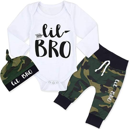 Newborn Baby Boy Clothes Outfit Hipster Bowtie Strap Short Sleeve Bodysuit Hat 3Pcs Outfits Set Moustache Pants