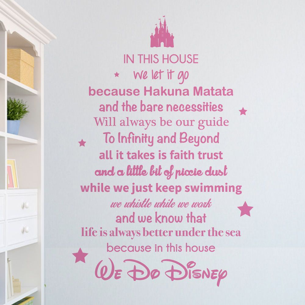 We do disney wall sticker vinyl decal stencil in this house we do disney wall sticker vinyl decal stencil in this house disney inspired amipublicfo Choice Image