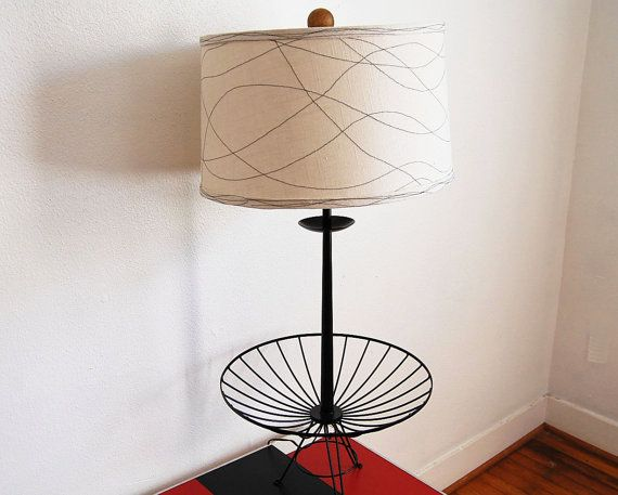 mid century modern vintage black wire table lamp by ljindustries rh pinterest com