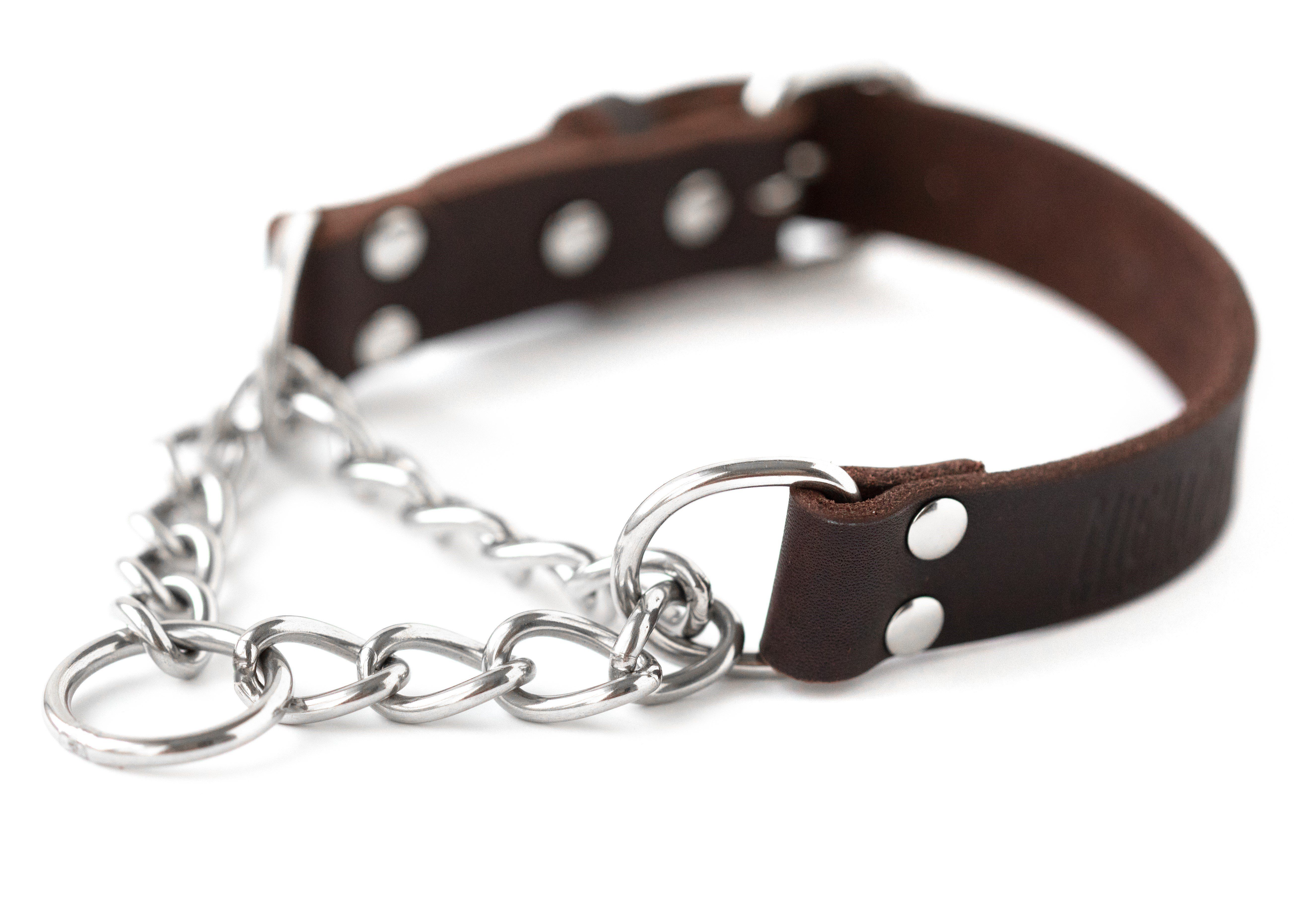 Leather Martingale Training Collar Training Collar Stainless