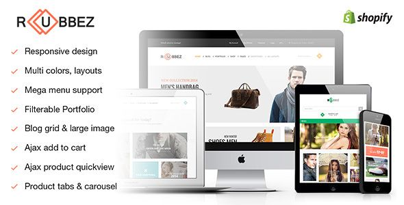 Rubbez Responsive Shopify Theme Website Themes - Shopify website templates