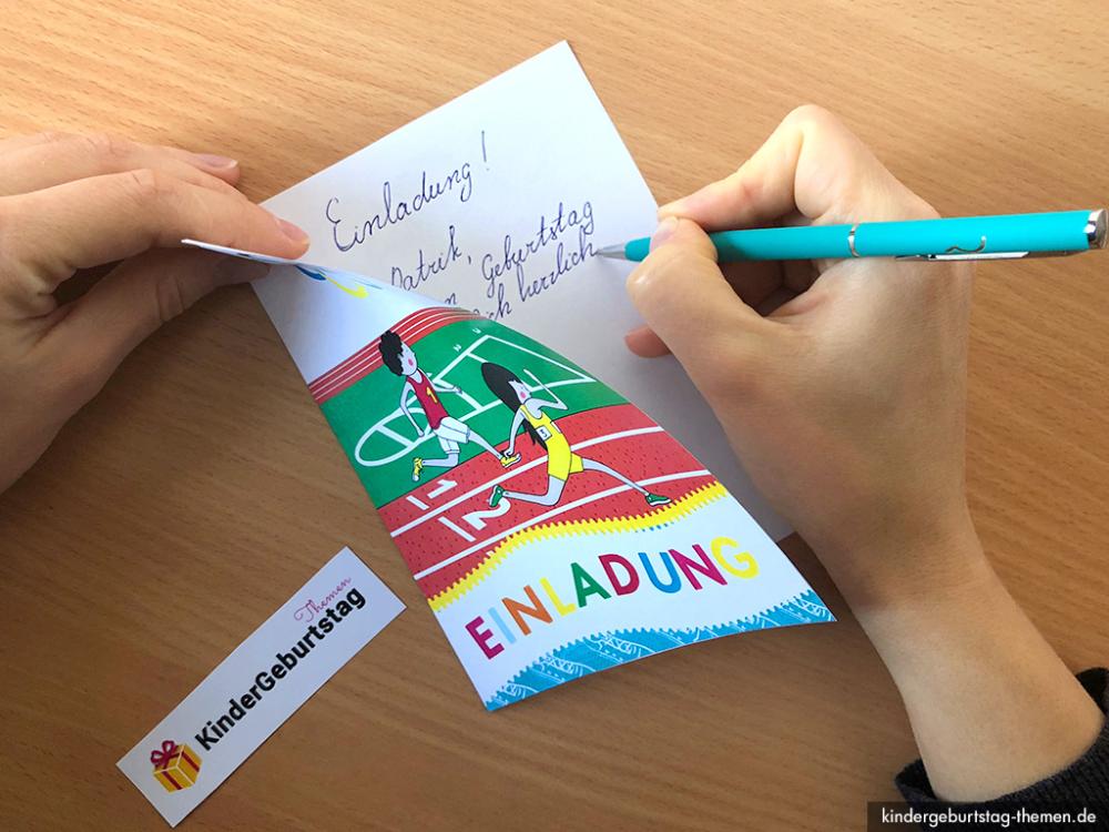 kindergeburtstag olympiade einladung basteln vorlagen