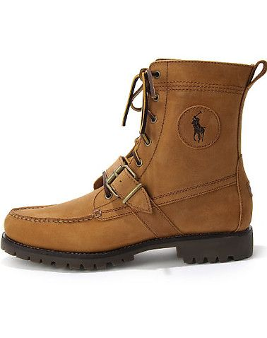 Polo Lace Up And Strap Closure High Top Design Rugged Outsole