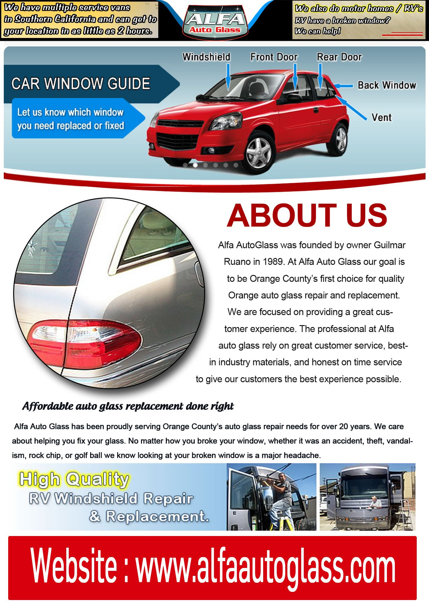 Pin by Alfa Auto on Auto Glass in Los Angeles Auto glass