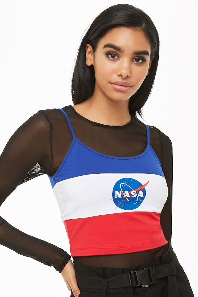 NASA Colorblock Cropped Cami Cropped cami, Forever 21