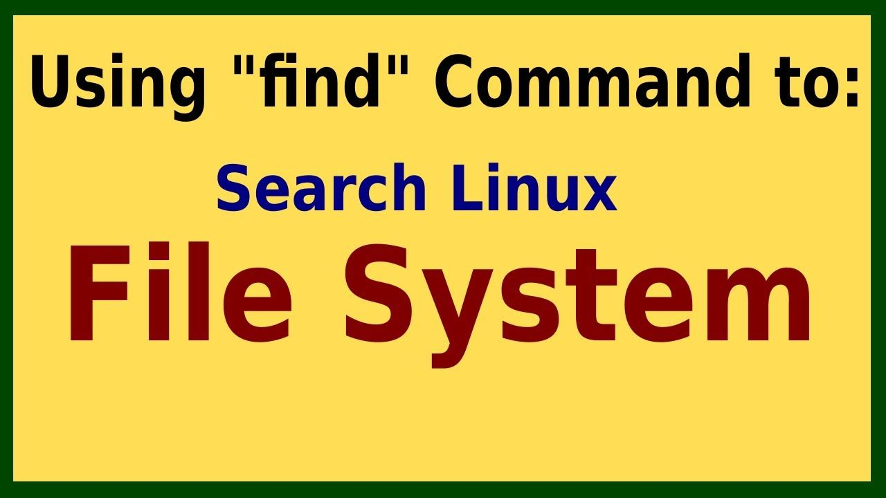 13 How To Find File Or Directory Linux Linux Linux Operating
