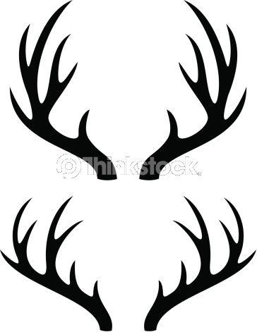 Vector Art Deer Horns