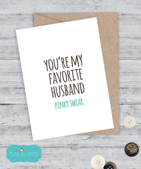 Husband Card I Love You Card Boyfriend Card Funny Birthday