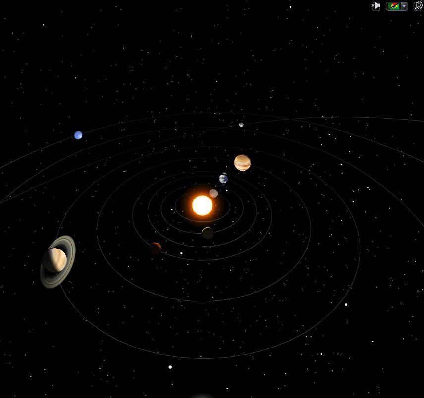 Картинка солнечная система анимация