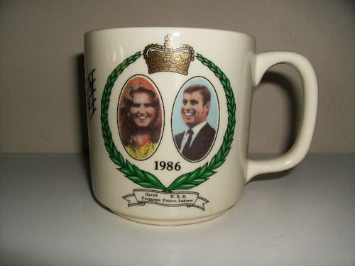 Sarah Ferguson And Prince Andrew Musical Cup