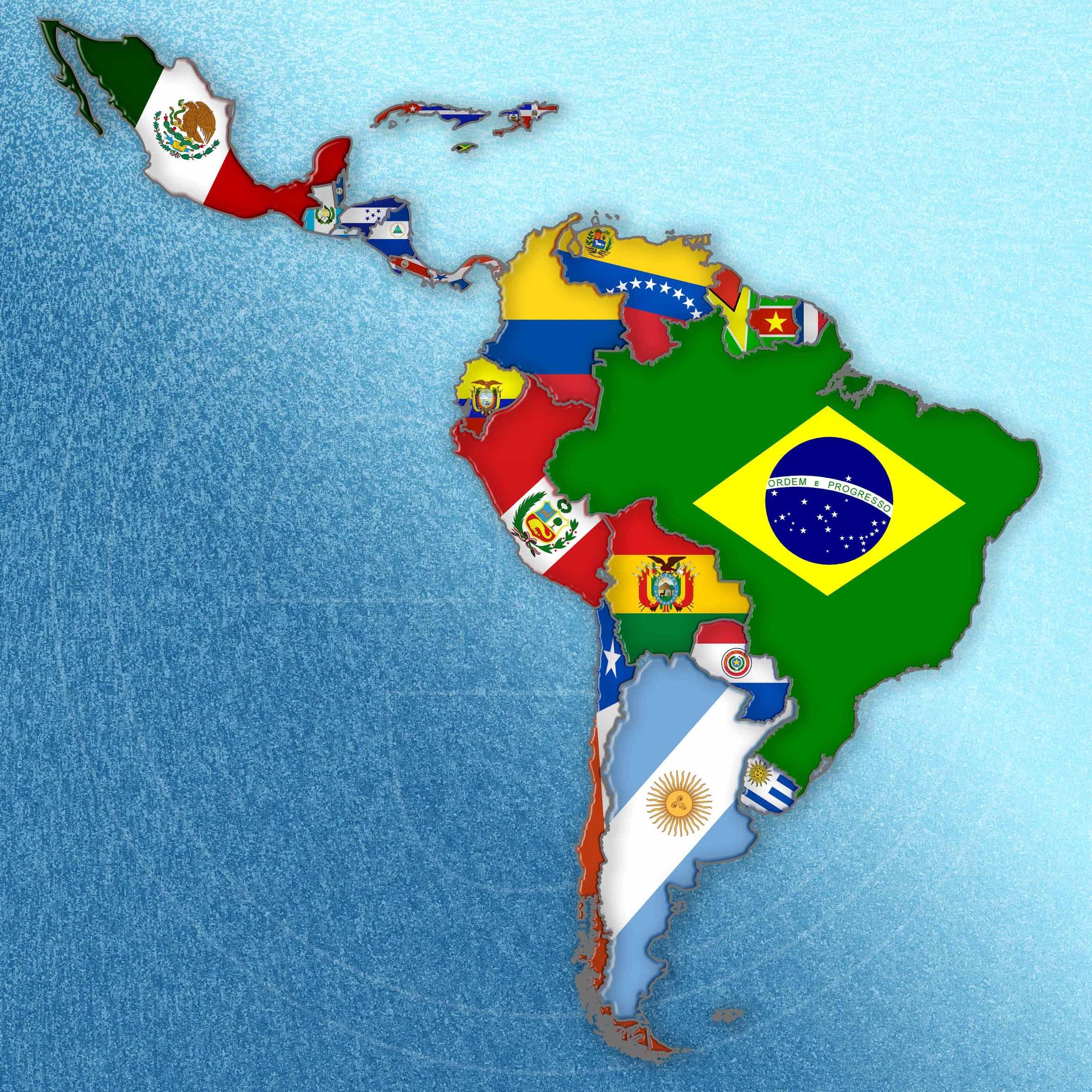 Negocios En Latinoamérica Mapa De America Latina Mapa De America Mapa De America Del Sur