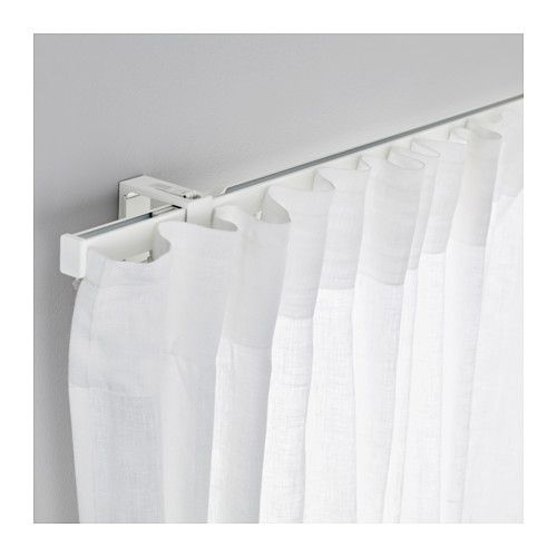 Ikea Vidga Tringle Rail Simple Blanc Drape Privacy En