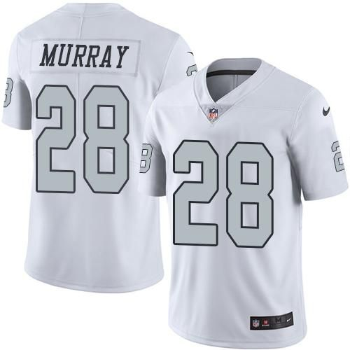 28 Latavius Murray Oakland Raiders White Color Rush Game Jersey  for cheap