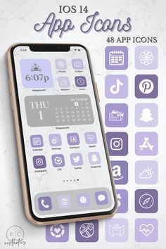 iOS 14 Icons Purple   Purple iOS 14 Aesthetic   Ap