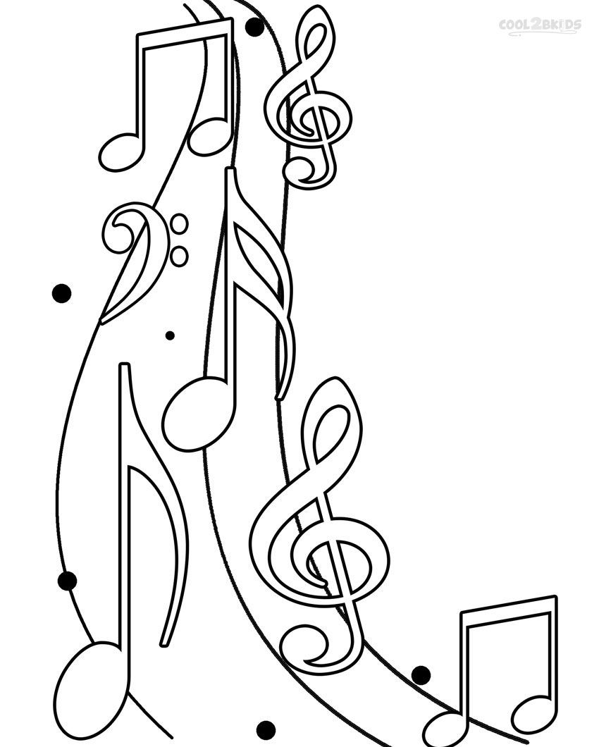 Free coloring pages music - Printable Music Note Coloring Pages For Kids Cool2bkids
