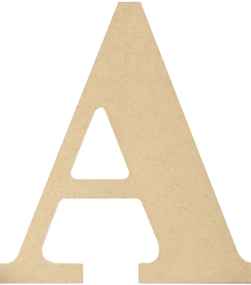 MDF Classic Font Unfinished Wooden Letter 9.5-Inch Letter A Alphabet ...