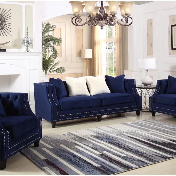 Kibby Living Room Sofa In 2020 Blue Living Room Decor Blue