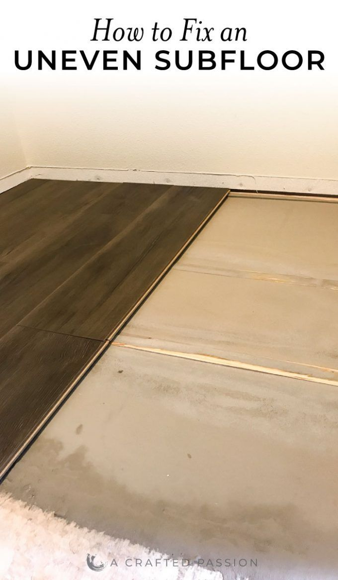 How To Fix An Uneven Subfloor Installing Laminate