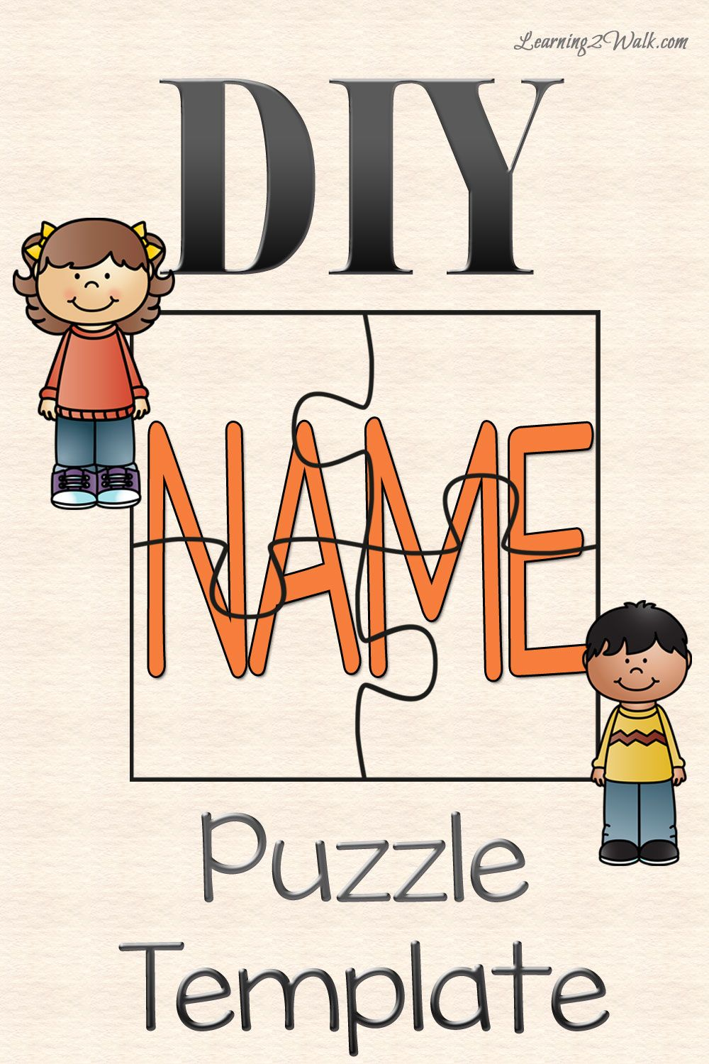 image regarding Name Puzzle Printable identified as Do-it-yourself Track record PUZZLE TEMPLATE preschool Preschool names, All