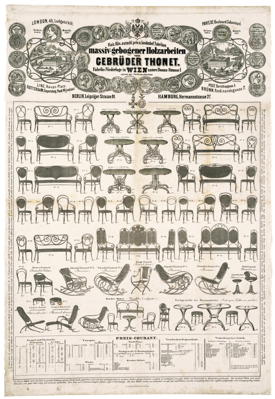 Thonet Plakat Wien Ca 1867 1868 Mit Darstellung Goldene Medaille Paris 1867 Kann Al Interior Design History Antique Furniture For Sale Victorian Furniture