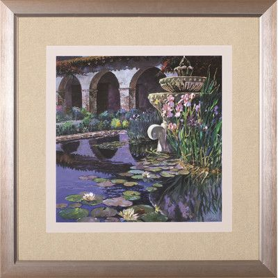 Art effects fountain at san miguel i by clif hadfield framed painting print