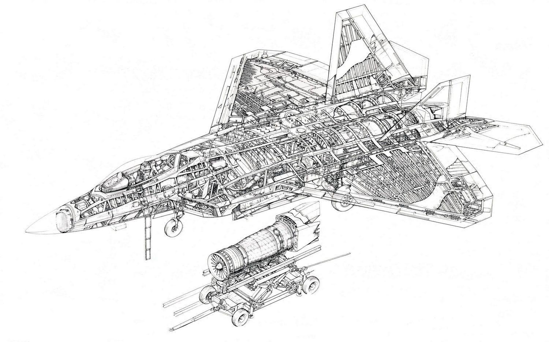 Resultado De Imagen De F 22 Technical Drawing