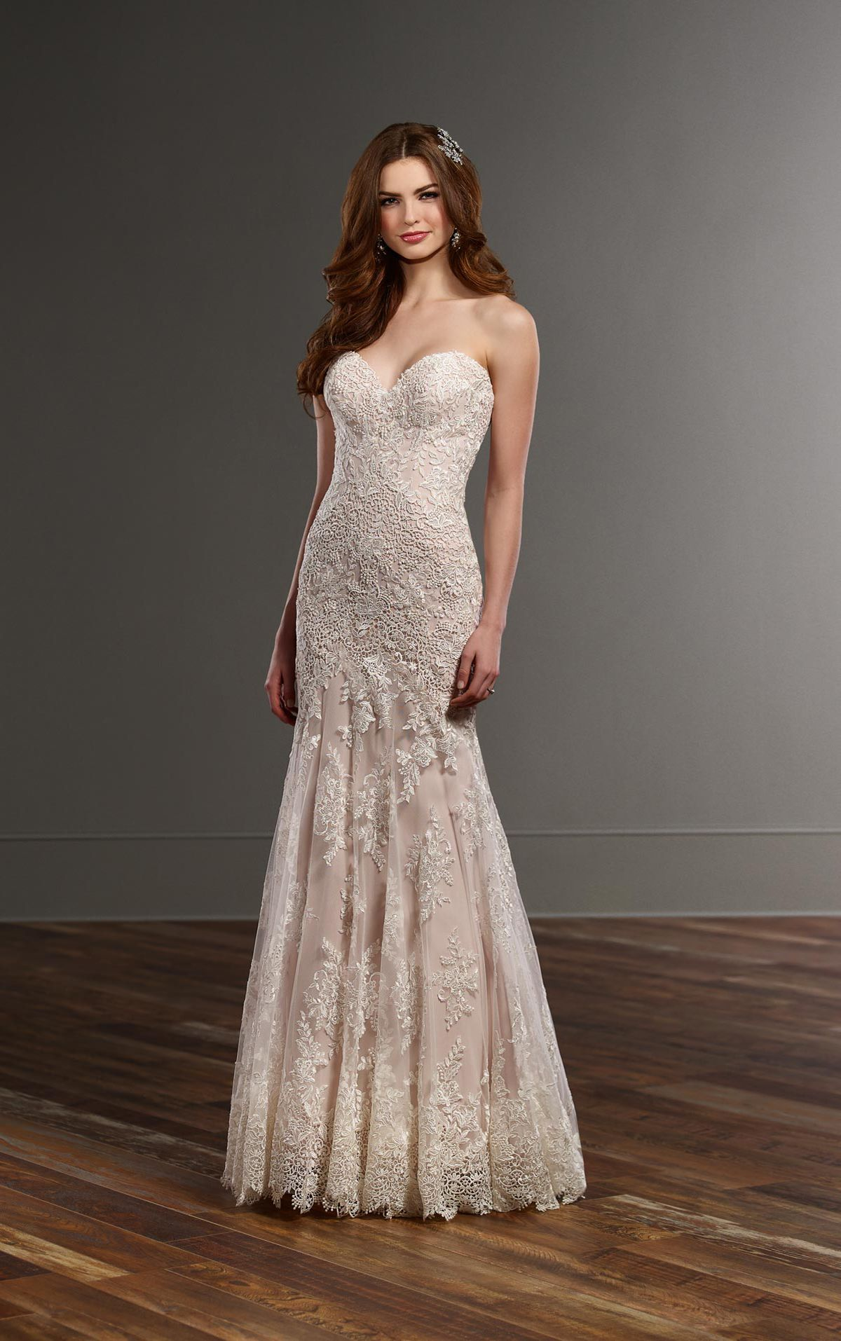 Bodice wedding dress  Fit and flare wedding dress with strapless sweetheart bodice