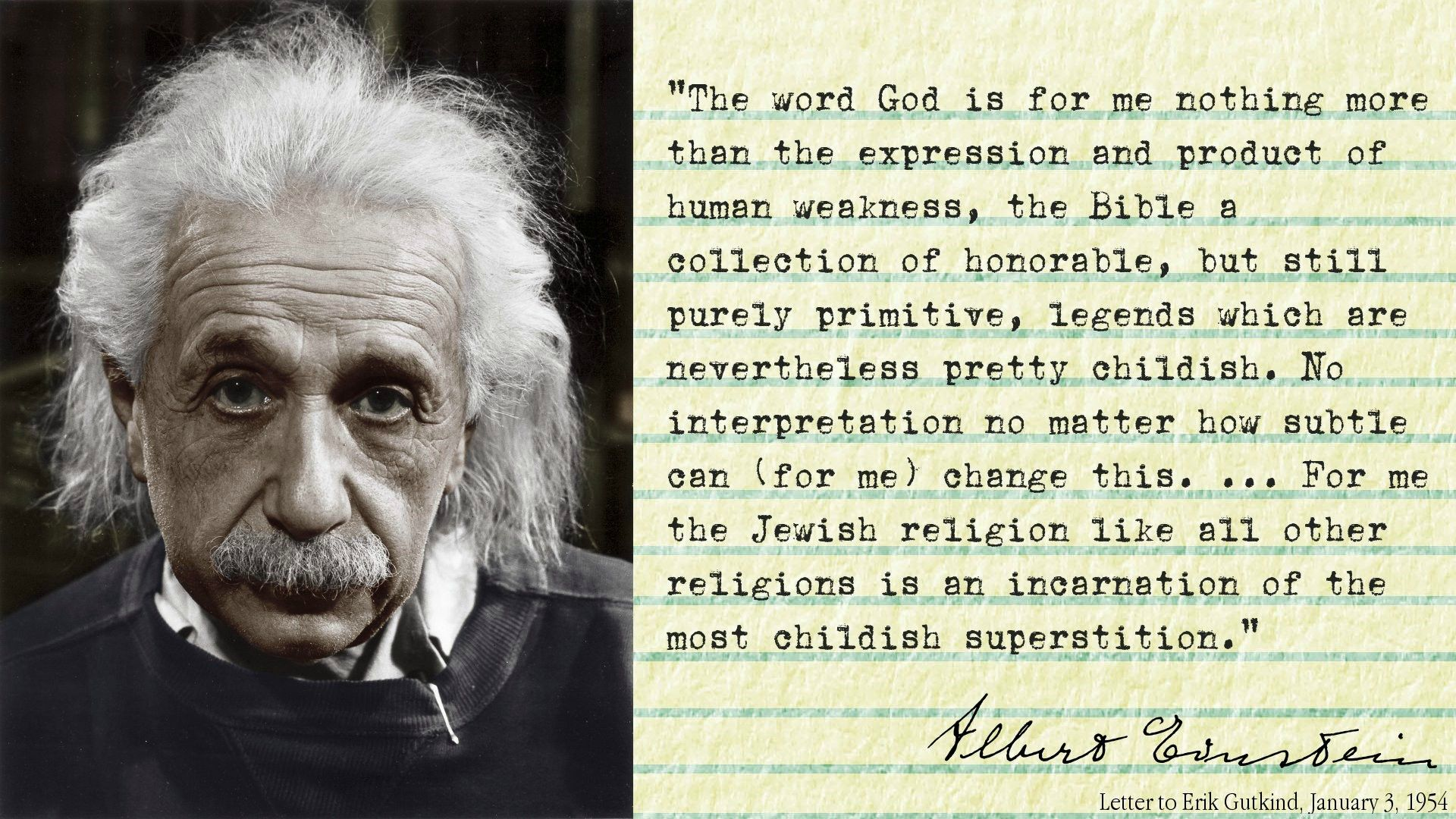 0011 Einstein on Religion (with reference information for