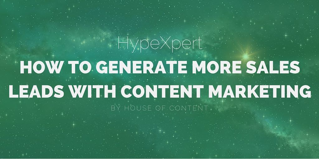 How to Generate More Sales Leads With Content Marketing