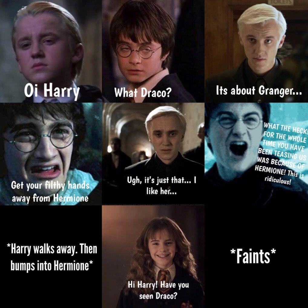 Dramione Dramione Harry Potter Jokes Harry Potter Feels Harry Potter Memes Hilarious