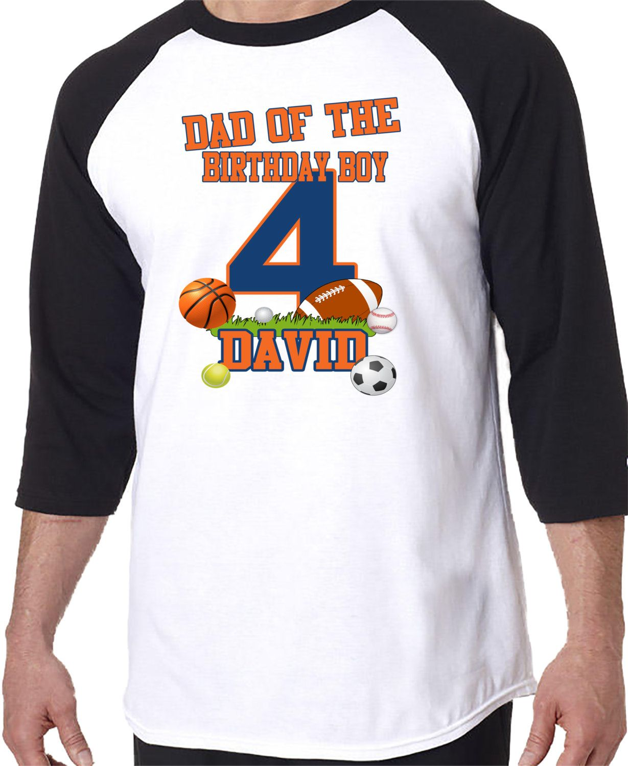 ADULT Dad Mom Aunt of the Birthday Boy Raglan Shirt ...