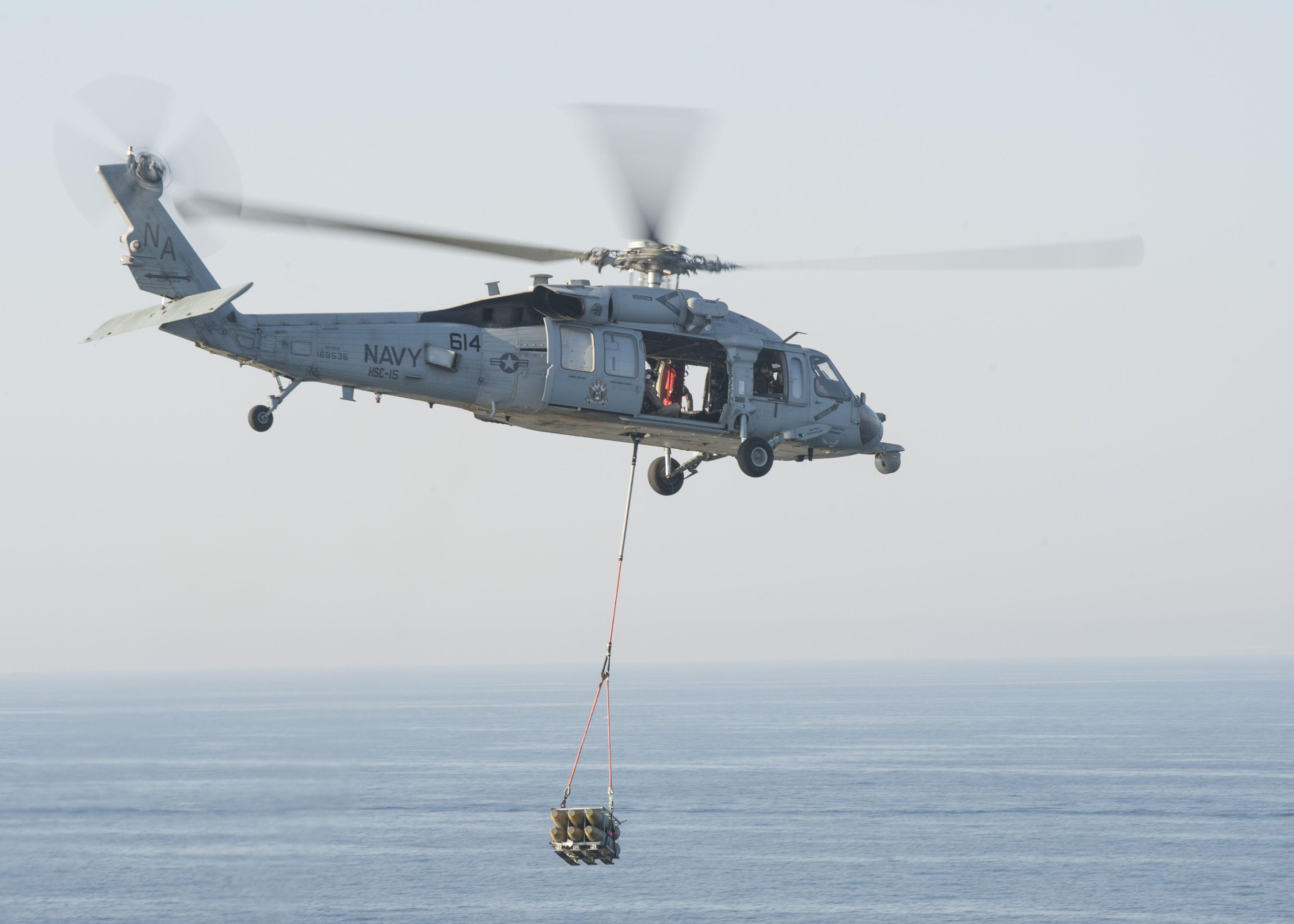 Обои MH-60R, армия, Sea Hawk helicopter. Авиация foto 13