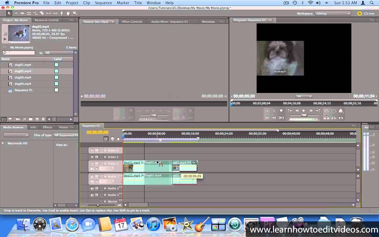 Adding transitions adobe premiere pro cs5 video