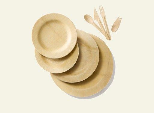 Bambu Veneerware® Disposable Bamboo Round Plates & All Occasion Veneerware® Bamboo Plates Round   Tabletop and Dinnerware