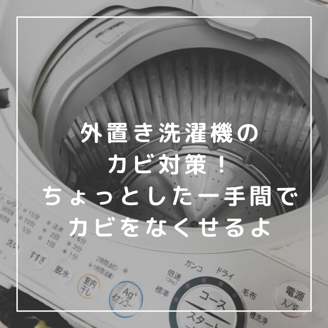 我が家で行なっている外置き洗濯機のカビ対策についてまとめてみました。