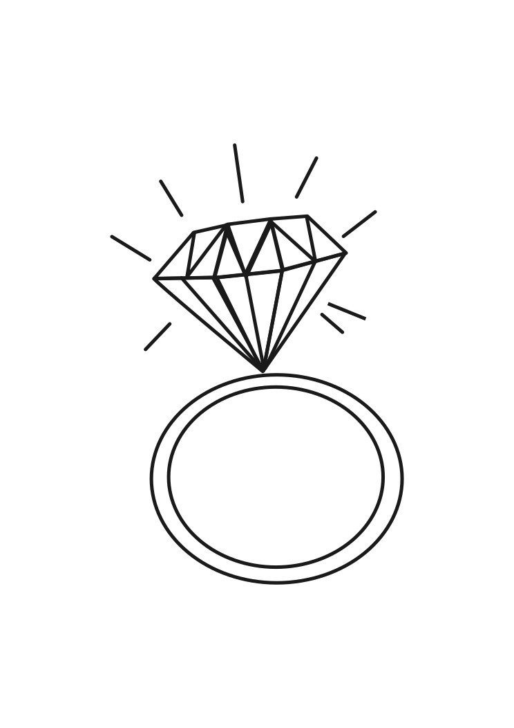 Wedding Ring With Diamond Black And White Clipart Free Svg File Free Clip Art Free Svg Svg Free Files
