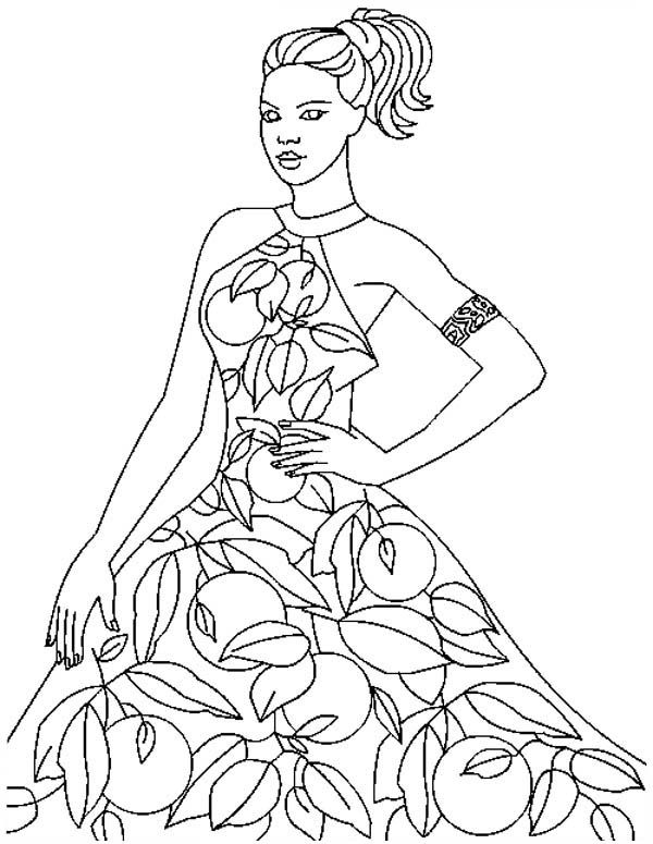 Beautiful Fashion Model Coloring Page Coloring Pages Pinterest