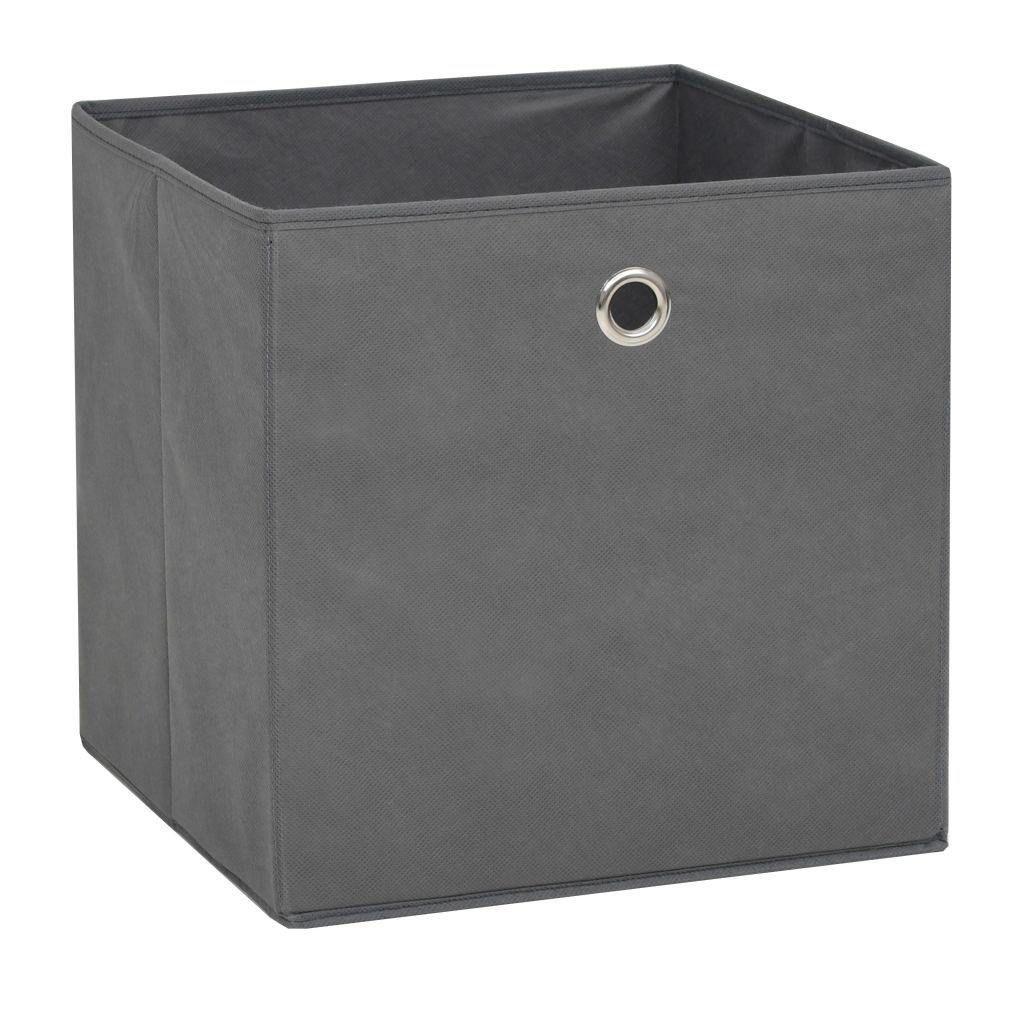 Storage Boxes 10 Piece Non-woven Fabric 32x32x32 cm Grey