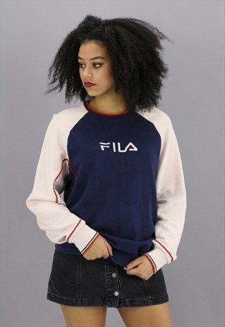 VINTAGE FILA SWEATSHIRT Z767 | : W A N T : | Fila jacket, Fila ...