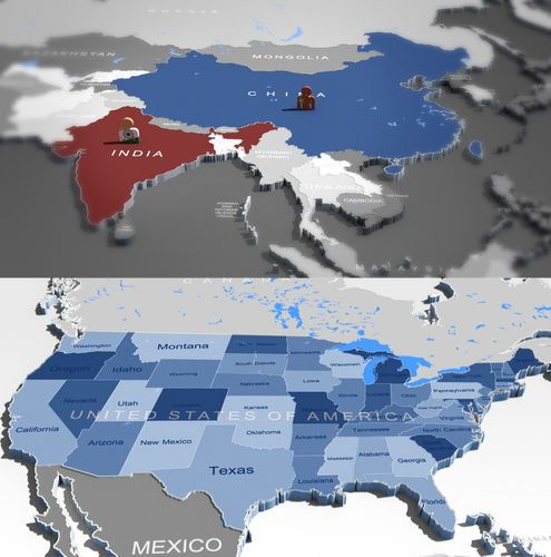 3d world map and usa map 3d model gumiabroncs Gallery