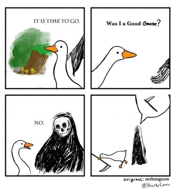 Mashup Meme Of Untitled Goose Game And Was I A Good Boy No